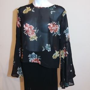 LIVE 4 TRUTH sheer floral top.